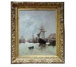 Морская живопись подписана A - Nolet XIX-10