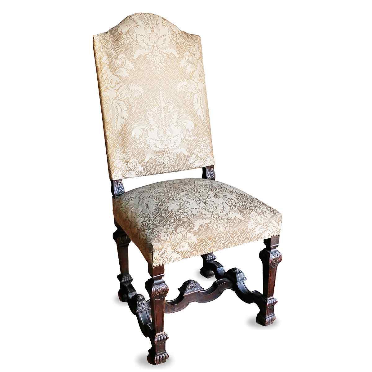 Un set di sedie imbottite del 19 ° secolo