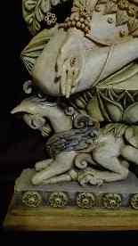 CERAMICA RARE ROGER GASTON - una divinità - XX secolo-0