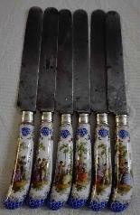 MEISSEN XIX secolo che si trova di 6 coltelli da frutta-0