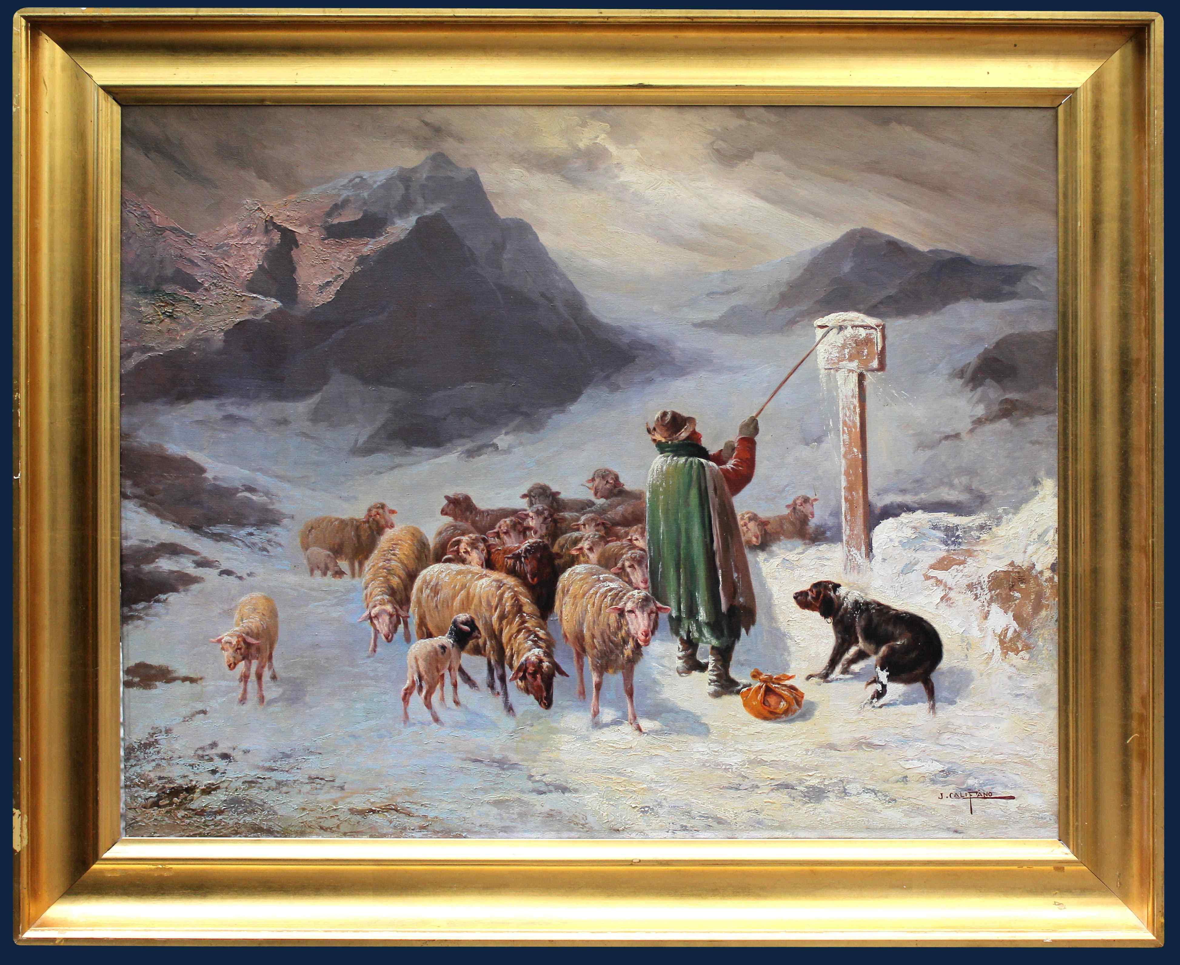John Califano (Rome, 1864-Chicago, 1924), Mountainous landsc