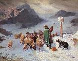 John Califano (Rome, 1864-Chicago, 1924), Mountainous landsc-1