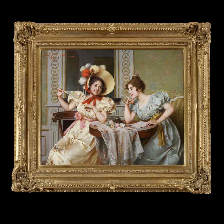 Antico dipinto di Adriano Cecchi