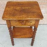 Ancien petite Table Chevet en noyer - 19ème siècle-6