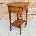 Antique small Table Bedside in walnut - 19th century-4