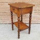 Ancien petite Table Chevet en noyer - 19ème siècle-5