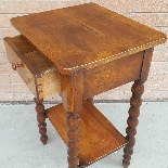 Ancien petite Table Chevet en noyer - 19ème siècle-10