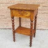 Ancien petite Table Chevet en noyer - 19ème siècle-1