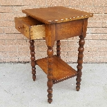 Antique small Table Bedside in walnut - 19th century-8