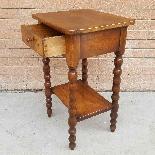 Ancien petite Table Chevet en noyer - 19ème siècle-8