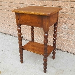 Antique small Table Bedside in walnut - 19th century-11