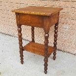 Ancien petite Table Chevet en noyer - 19ème siècle-11