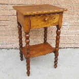 Ancien petite Table Chevet en noyer - 19ème siècle-3