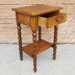 Antique small Table Bedside in walnut - 19th century-7