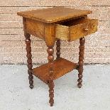 Ancien petite Table Chevet en noyer - 19ème siècle-7