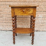 Antique small Table Bedside in walnut - 19th century-2