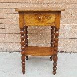 Ancien petite Table Chevet en noyer - 19ème siècle-2