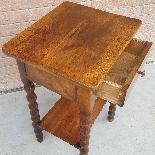 Ancien petite Table Chevet en noyer - 19ème siècle-9