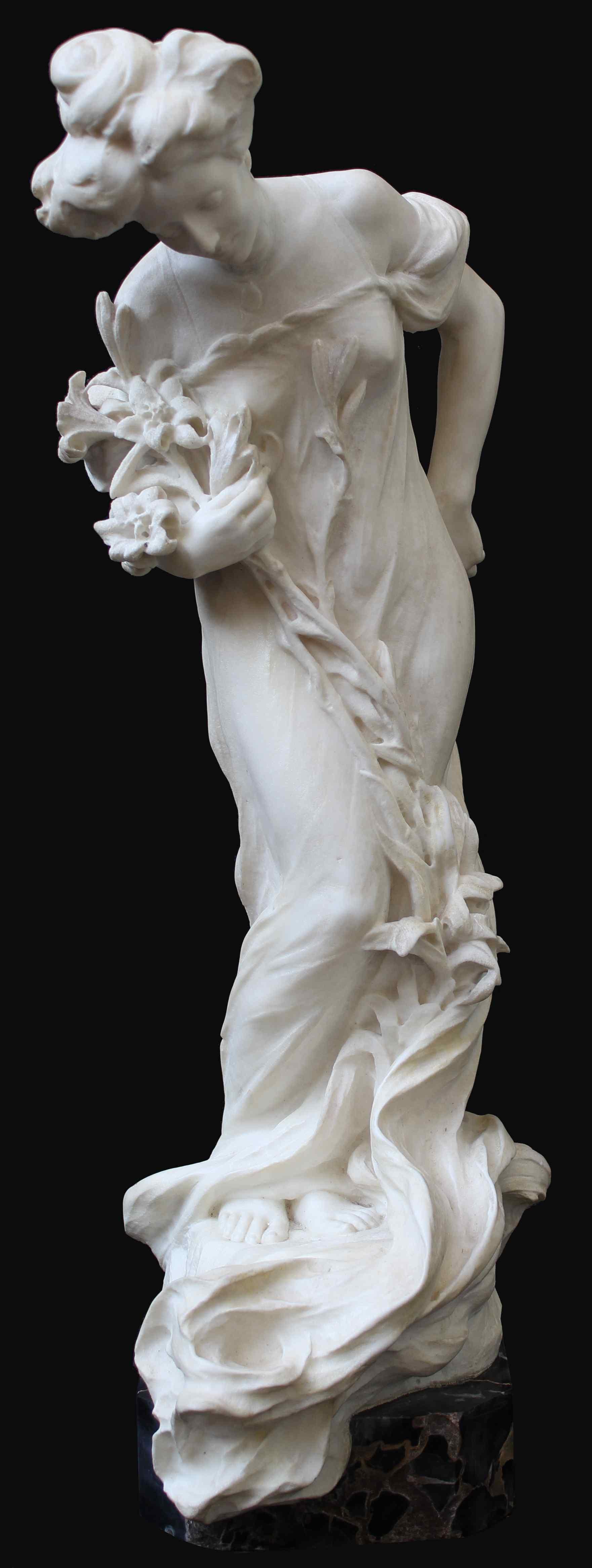 Attilio Fagioli 1877 - 1966 Figura femminile Marmo