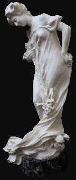 Attilio Fagioli 1877 - 1966 Figura femminile Marmo-1