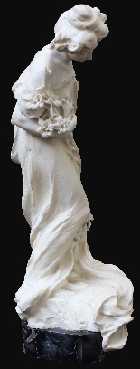 Attilio Fagioli 1877 - 1966 Figura femminile Marmo-2