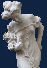 Attilio Fagioli 1877 - 1966 Figura femminile Marmo-4