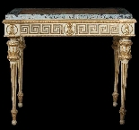 Antique neoclassical lacquered and gilded console-0