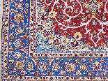 Tapis Ispahan Laine Kork - Epoque Du Shah - Iran Vers 1960-4