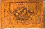 Coppia di credenzini in massello di noce intarsiati. XVII-1