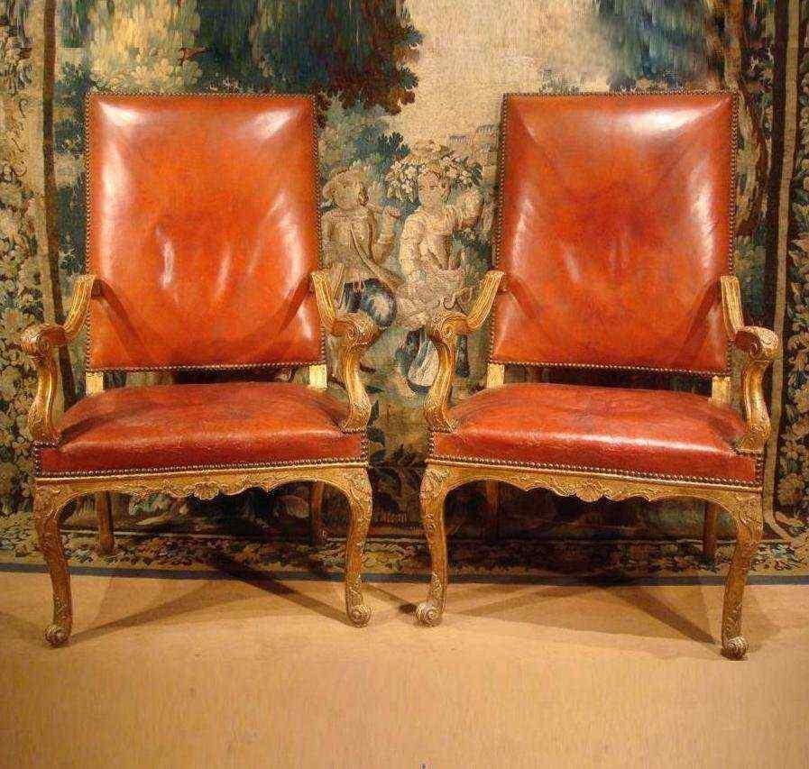 Coppia di sedie d'epoca Reggenza, XVIII secolo