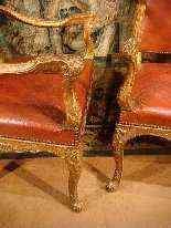 Coppia di sedie d'epoca Reggenza, XVIII secolo-13