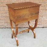 Antico Tavolino Comodino Impero in noce - XIX secolo-4