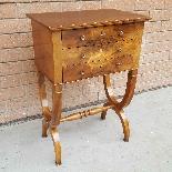 Antico Tavolino Comodino Impero in noce - XIX secolo-1