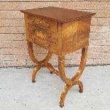 Antico Tavolino Comodino Impero in noce - XIX secolo-3