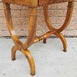 Antico Tavolino Comodino Impero in noce - XIX secolo-12