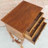 Antico Tavolino Comodino Impero in noce - XIX secolo-8