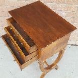 Antico Tavolino Comodino Impero in noce - XIX secolo-9
