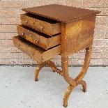 Antico Tavolino Comodino Impero in noce - XIX secolo-7