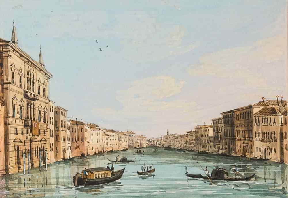 Grubacs Carlo, Vue de Venise, tempera 1830-1840