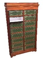Cartonnier à 16 cartons en acajou XIXème-1