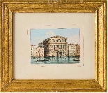 Carlo Grubacs, Veduta di Venezia, tempera 1830-1840-1