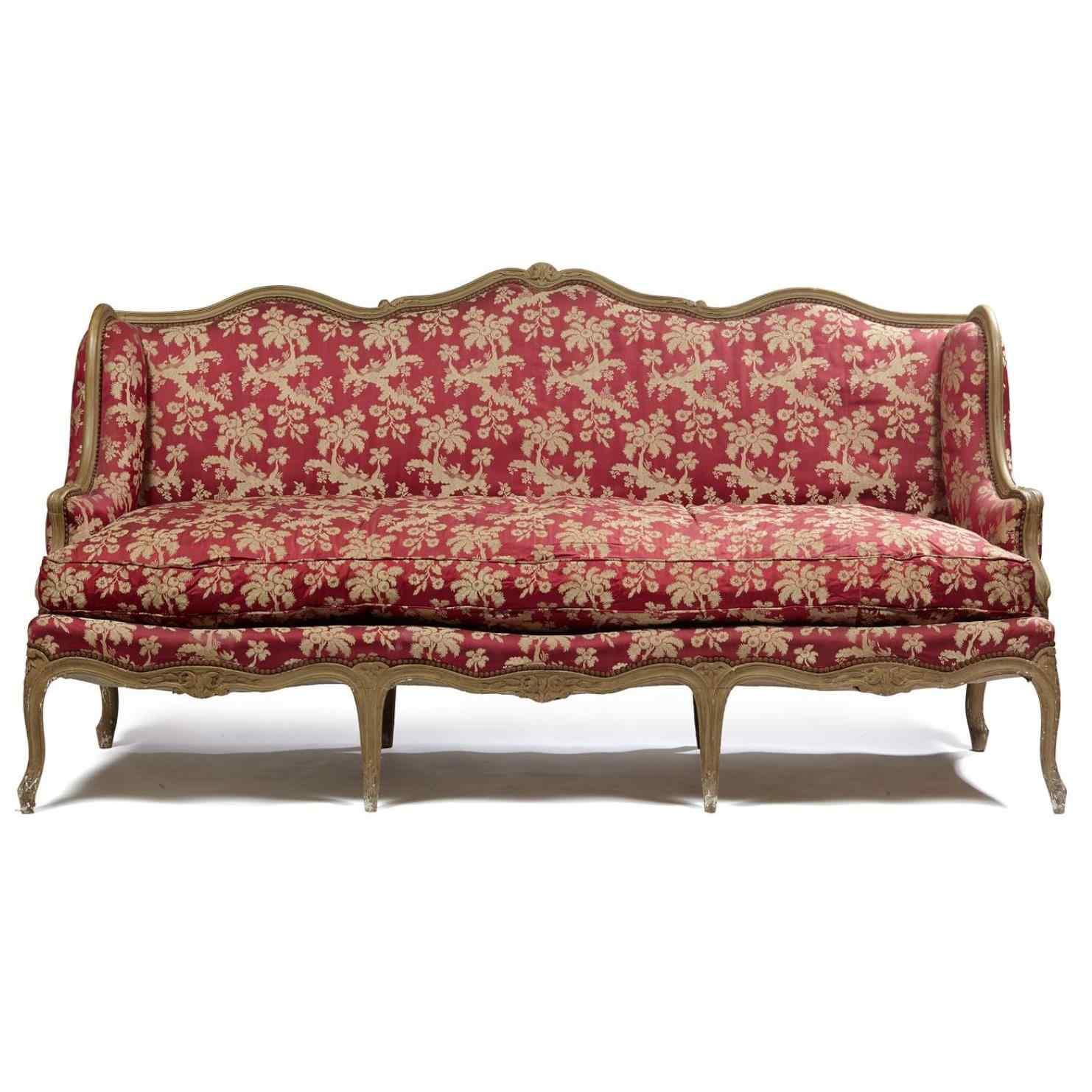 XVIII th/XIX th Century flat-backed sofa