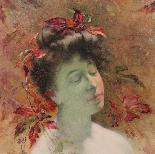 Antico dipinto ad olio su tela ritratto di dama-1