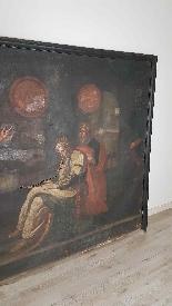 Grande dipinto antico cm 250 x 153 olio su tela Secolo XVII-1