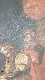 Grande dipinto antico cm 250 x 153 olio su tela Secolo XVII-3