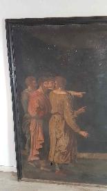 Grande dipinto antico cm 250 x 153 olio su tela Secolo XVII-4