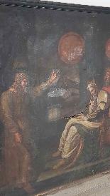 Grande dipinto antico cm 250 x 153 olio su tela Secolo XVII-5
