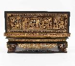 Scatola in legno laccato cinese, XIX secolo-2