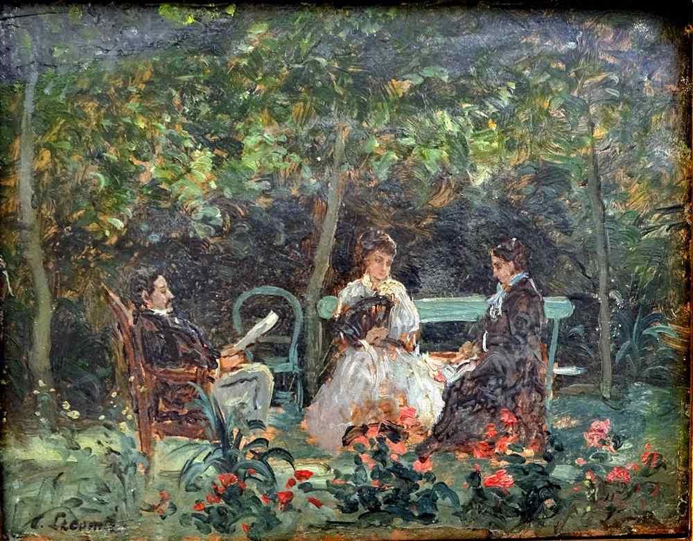 Victor Lecomte C1875 impressionisti