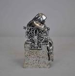 Religieuse pensive, Bronze argenté, P Canonica, début XXème-4